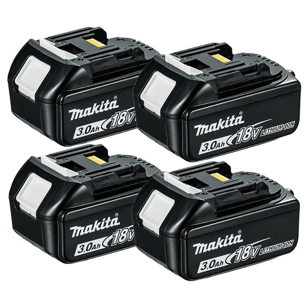 Makita Genuine BL1830 18V Li-ion LXT 3.0Ah Battery Pack of 4