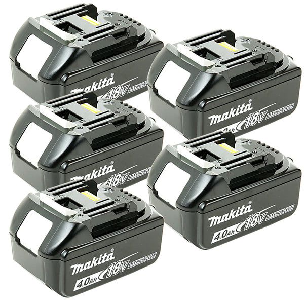 Makita Genuine BL1840 18v 4.0ah LXT Li-ion Battery with Star Pack of 5