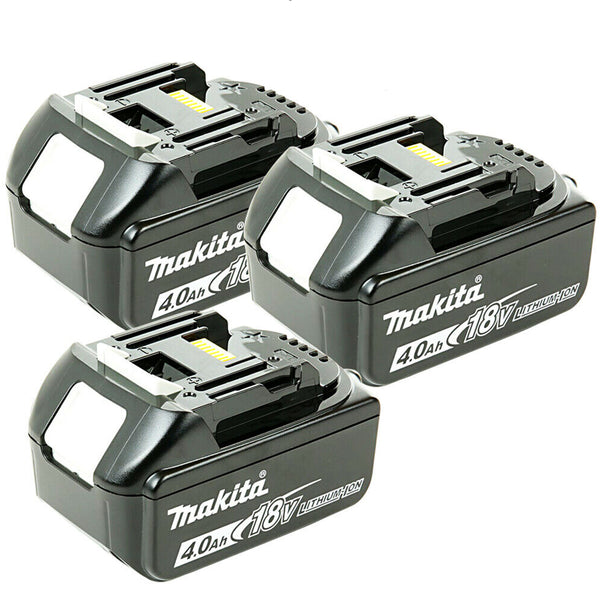Makita Genuine BL1840 18v 4.0ah LXT Li-ion Battery with Star Pack of 3