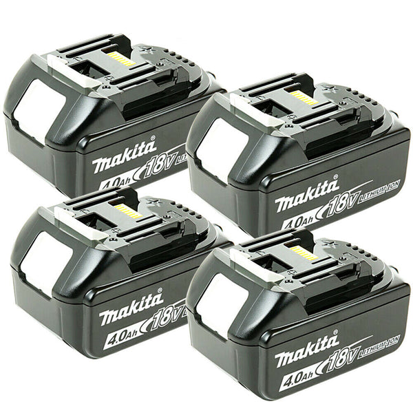 Makita Genuine BL1840 18v 4.0ah LXT Li-ion Battery with Star Pack of 4