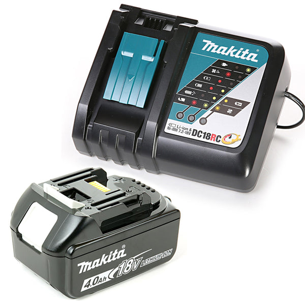 Makita Genuine BL1840 18V 4.0Ah Li-Ion LXT 1 x Battery With DC18RC Charger