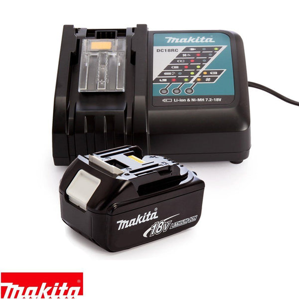 Makita Genuine DC18RC 7.2 - 18V Li-Ion Fast Charger + 1 x BL1860 6Ah Battery
