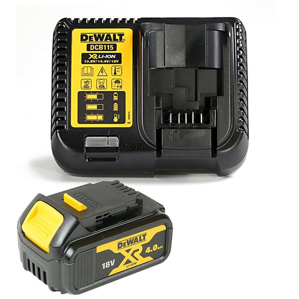 Dewalt DCB182 18V Li-ion 4.0Ah Battery & Dewalt DCB115 Fast Charger Kit