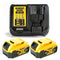 Dewalt DCB184 18V Li-ion 5.0Ah Battery Twin Pack & Dewalt DCB115 Charger Kit