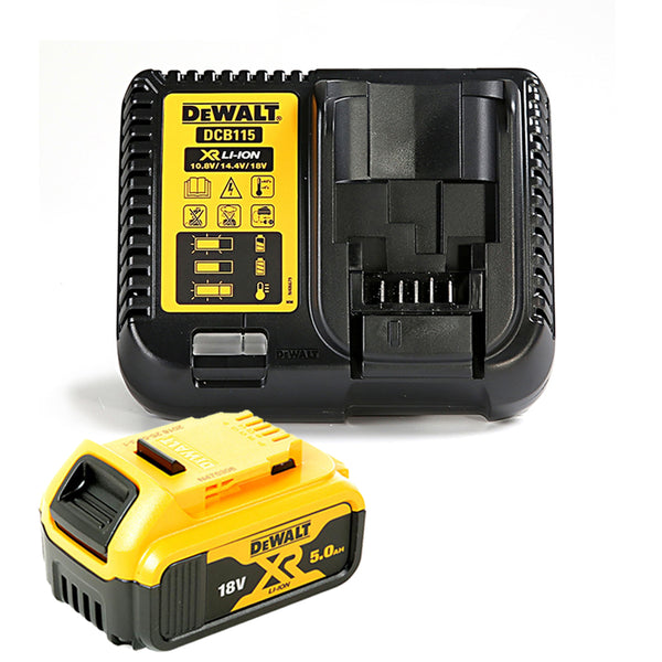Dewalt DCB184 5.0ah 18v XR Lithium Ion Battery with DCB115 Charger