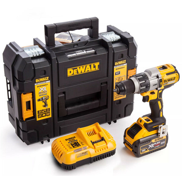 Dewalt DCD996X1 18V XR Brushless Combi Drill  With 1 x 9Ah Battery & Charger