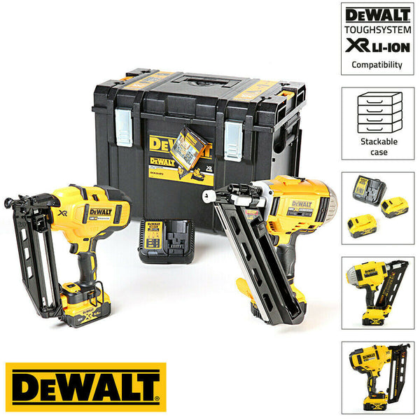 DEWALT DCK264P2-18V-XR Cordless Li-Ion Brushless Nailer Twin Pack