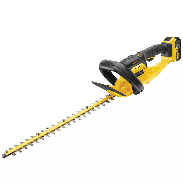 DeWalt DCM563P1-GB 18V XR Cordless Hedge Trimmer 550mm inc 1 x 5.0Ah Battery