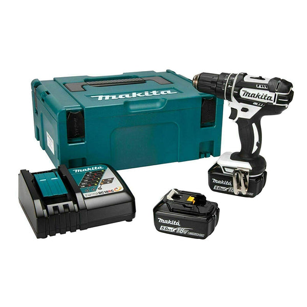 DHP482RTWJ 18V Li-ion LXT Combi Drill with 2 x 5Ah Batteries & Charger