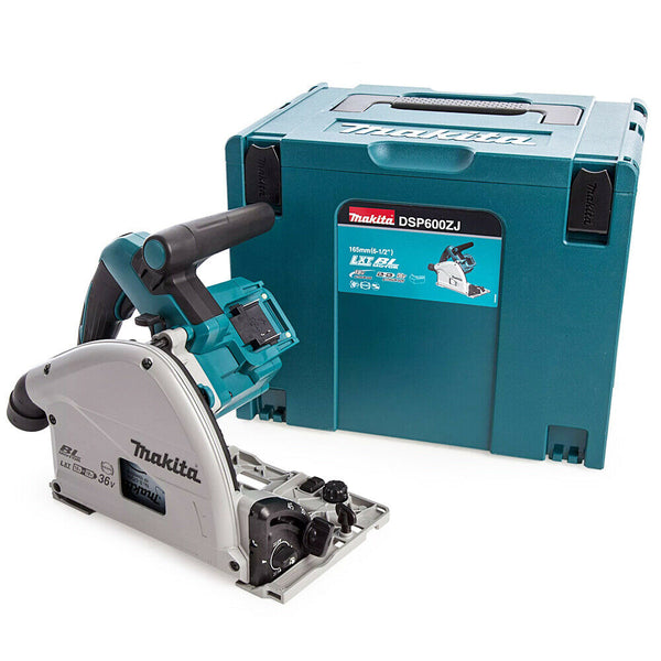 Makita DSP600ZJ LXT 18V Twin Cordless Brushless Plunge Saw 165mm With Type4 Case