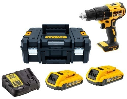 DCD777D2 18V Drill Driver + 2 x 2Ah in Twin Case - Comparethetools.eu