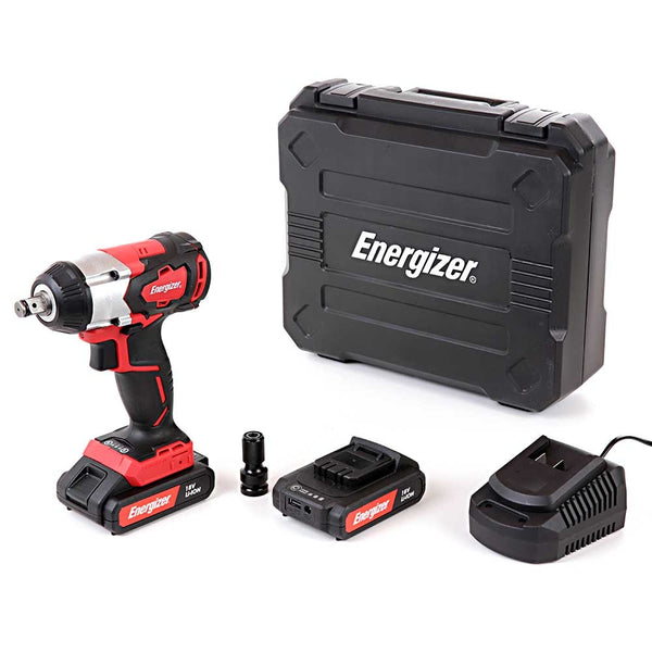 18v Impact Wrench + 2 x 2ah Batteries & Charger - Comparethetools.eu