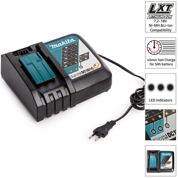 DC18RC/E 14.4V - 18V Europeon Battery Charger - Comparethetools.eu