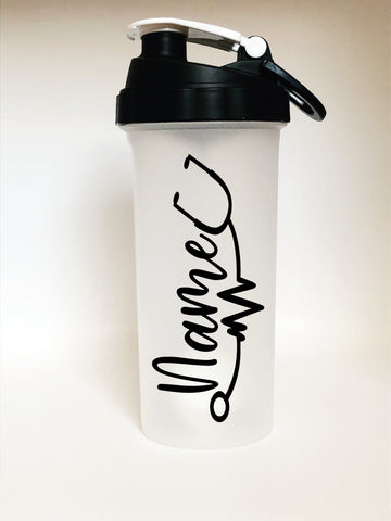 Shaker Bottle w/ Name & Stethoscope Decal