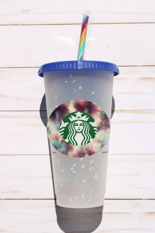 Confetti Color Changing Cups w/ Decal