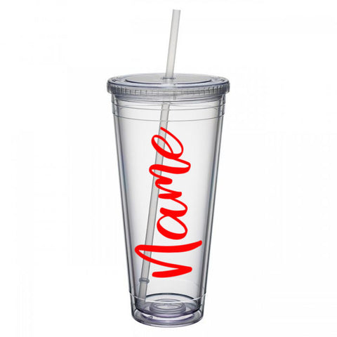 Tumbler with Custom Name Decal