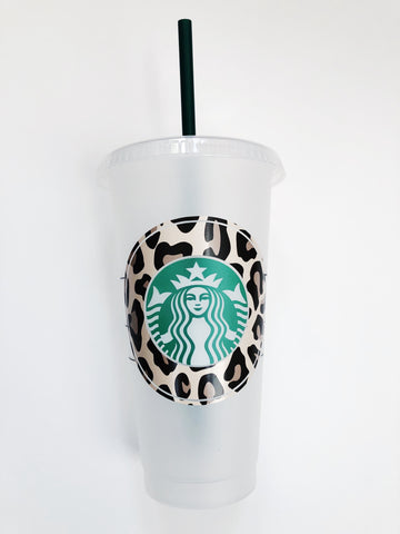 Starbucks Cold Cup w/ Patterned Decal