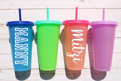 Kids Color Changing Cups w/ Name Decal
