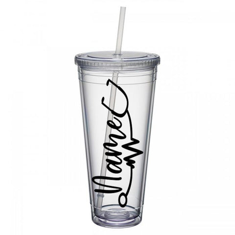 32 oz. Tumbler with Custom Name & Stethoscope Decal