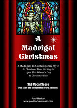 Load image into Gallery viewer, A Madrigal Christmas - Paul Barker Music