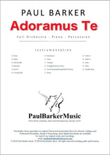 Load image into Gallery viewer, Adoramus Te (Full Orchestra) - Paul Barker Music