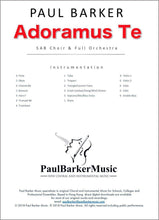 Load image into Gallery viewer, Adoramus Te (SAB Choir & Orchestra/Piano) - Paul Barker Music