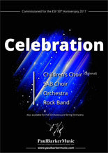Load image into Gallery viewer, Celebration (SAB Choir & Orchestra/Piano)-Choral-Paul Barker Music