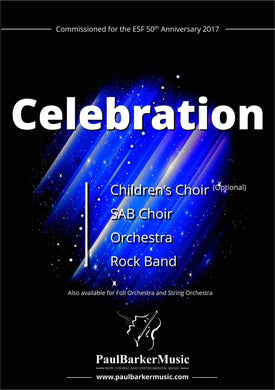 Celebration (SAB Choir & Orchestra/Piano)-Choral-Paul Barker Music