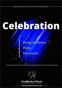 Celebration (String Orchestra)-Orchestral-Paul Barker Music