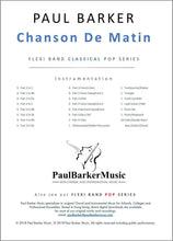 Load image into Gallery viewer, Chanson De Matin - Paul Barker Music