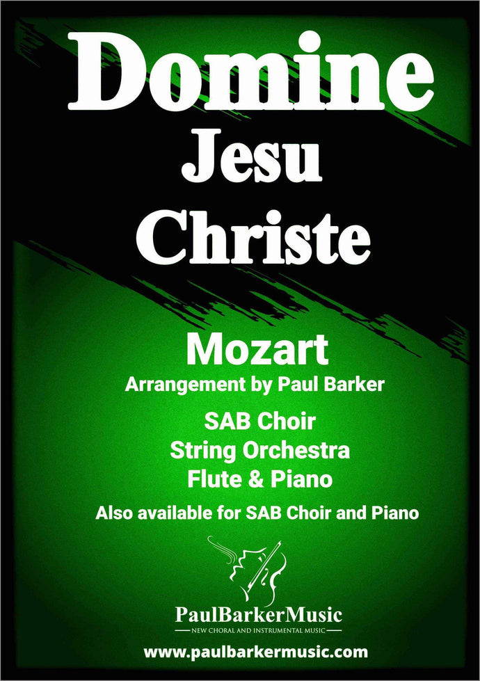 Domine Jesu Christe-Choral-Paul Barker Music