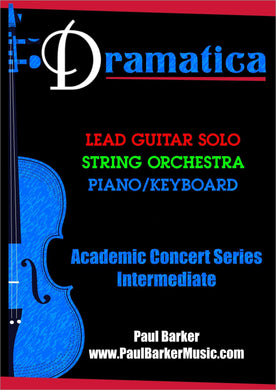 Dramatica (Lead Guitar & String Orchestra)-Guitar-Paul Barker Music