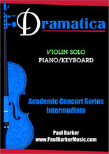 Load image into Gallery viewer, Dramatica (Violin & Piano)-Strings-Paul Barker Music
