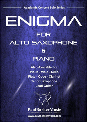 Enigma (Alto Saxophone & Piano)-Woodwind-Paul Barker Music