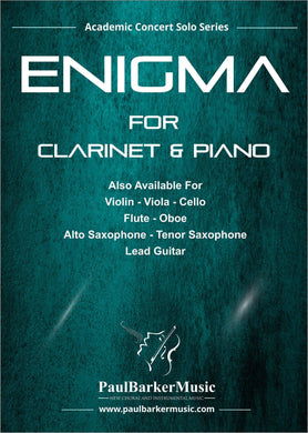 Enigma (Clarinet & Piano)-Woodwind-Paul Barker Music