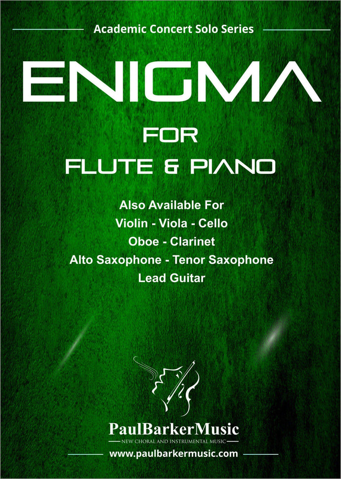 Enigma (Flute & Piano)-Woodwind-Paul Barker Music