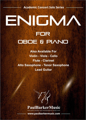 Enigma (Oboe & Piano)-Woodwind-Paul Barker Music