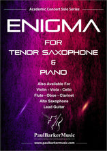 Load image into Gallery viewer, Enigma (Tenor Saxophone & Piano) - Paul Barker Music