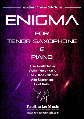 Enigma (Tenor Saxophone & Piano)-Woodwind-Paul Barker Music