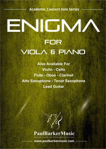 Enigma (Viola & Piano)-Strings-Paul Barker Music