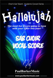 Hallelujah! (SAB Choir & Rock/Fusion Orchestra) - Paul Barker Music