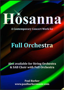 Hosanna (Full Orchestra) - Paul Barker Music