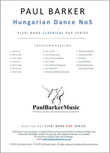 Load image into Gallery viewer, Hungarian Dance No 5 - Paul Barker Music