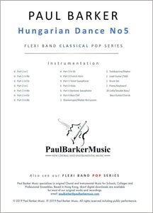 Hungarian Dance No 5 - Paul Barker Music