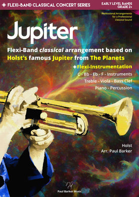 Jupiter - The Planets Band Paul Barker Music Conductor Score
