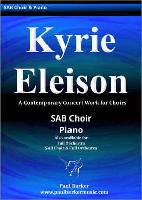 Kyrie Eleison Choral Paul Barker Music Piano/Vocal Score