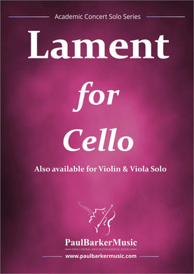 Lament (Cello & Piano) - Paul Barker Music