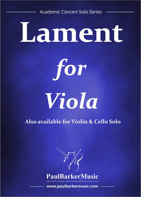 Lament (Viola & Piano) - Paul Barker Music