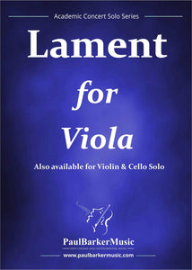Lament (Viola & Piano)-Strings-Paul Barker Music