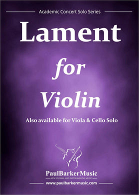 Lament (Violin & Piano) - Paul Barker Music